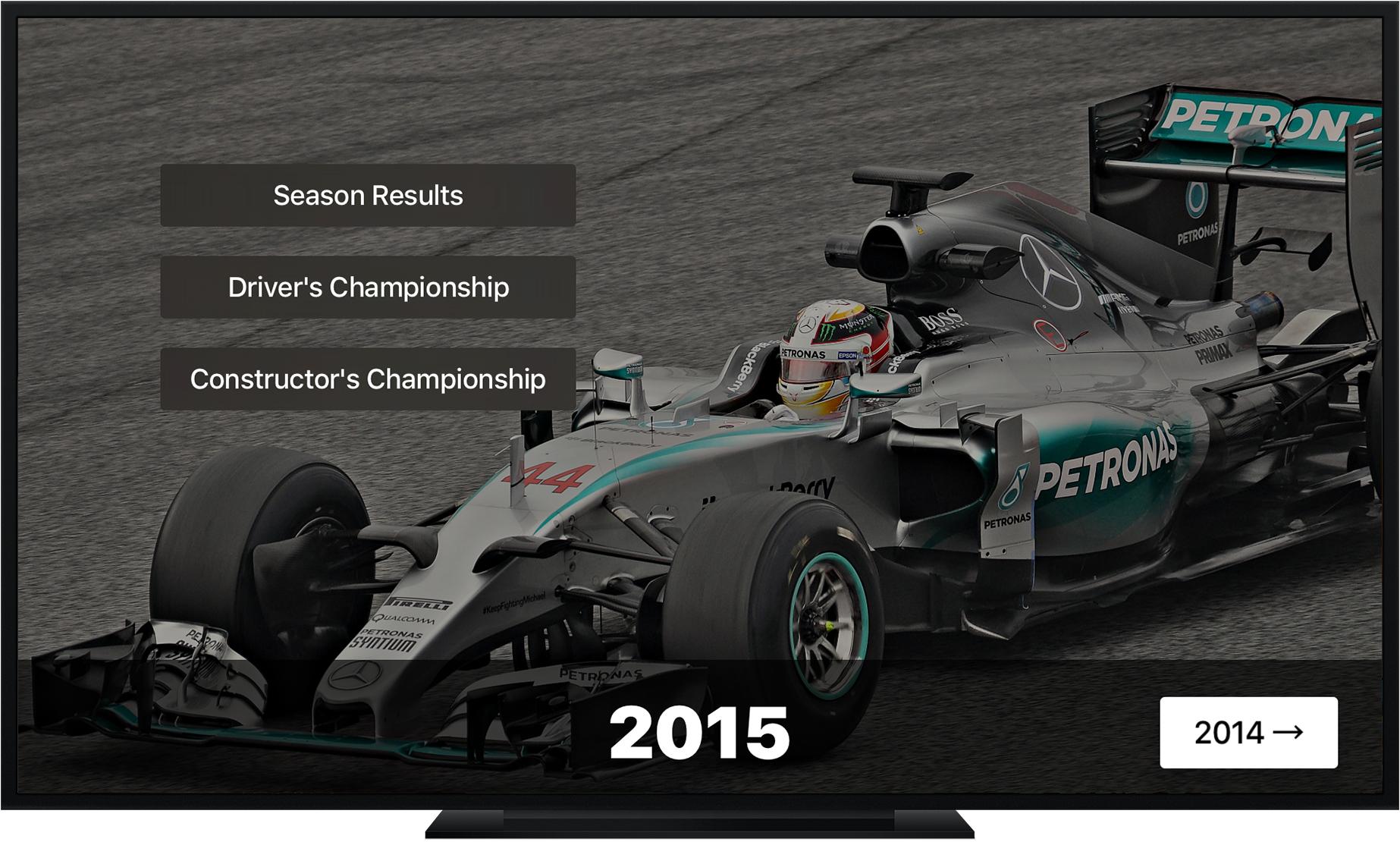 Grand Prix Stats Apple TV App